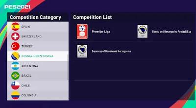Bosnian league pes21 sp21