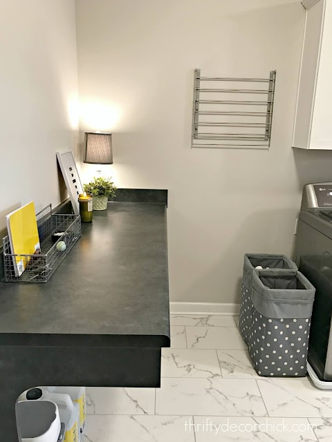 folding table laundry room before