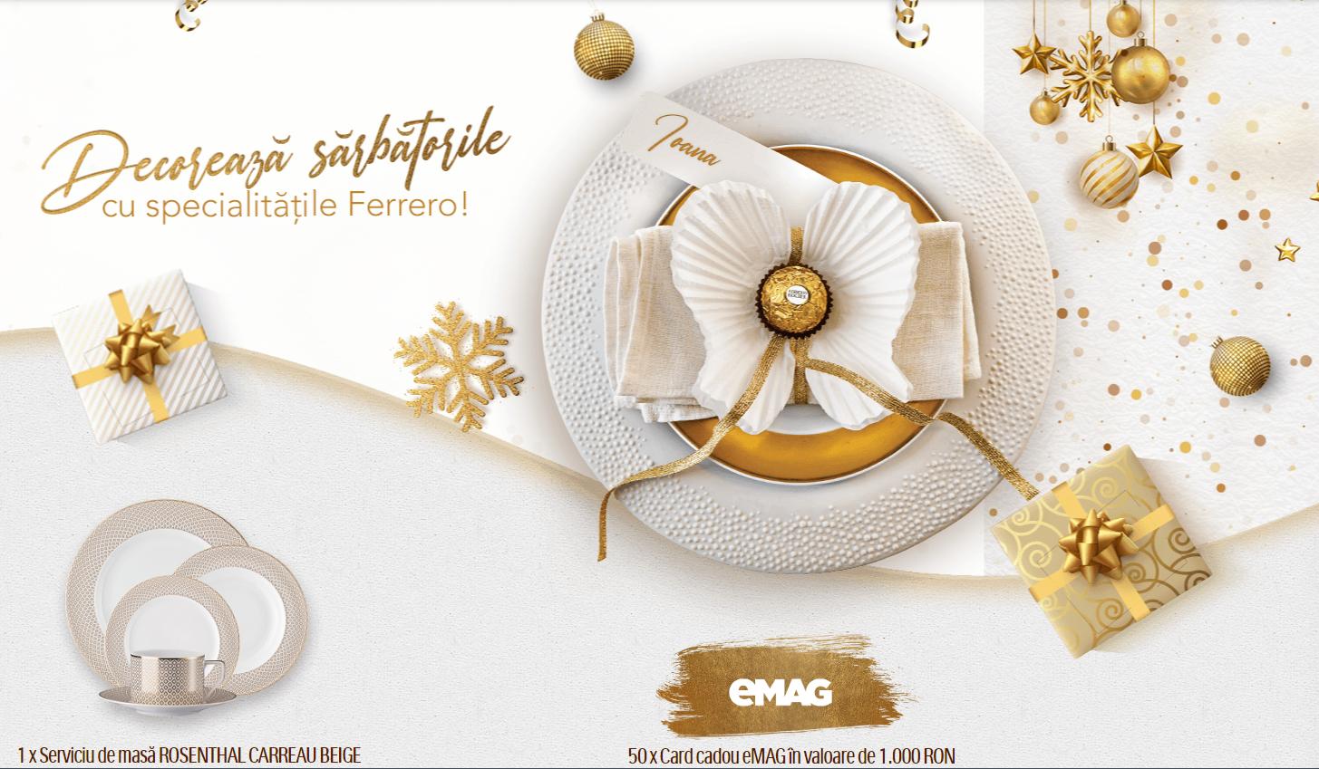 Concurs Ferrero - Descopera sarbatorile cu specialitatile Ferrero - concursuri - online - premii