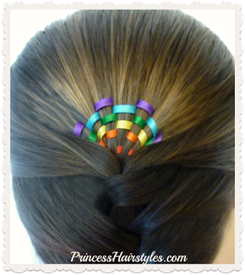 Rainbow sunrise braid tutorial, would be cute for St. Patrick's Day