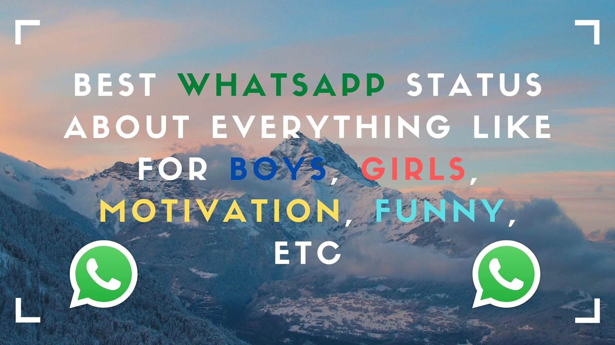 Whatsapp status quotes and images about everything