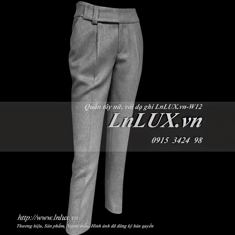 Quần t¢y ná ¯ vải dạ ghi LnLUX W12 LnLUX #2: quan tay nu vai da ghi lnlux w11