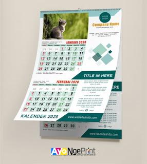 tempat cetak kalender dinding murah di Cabangbungin, Bekasi