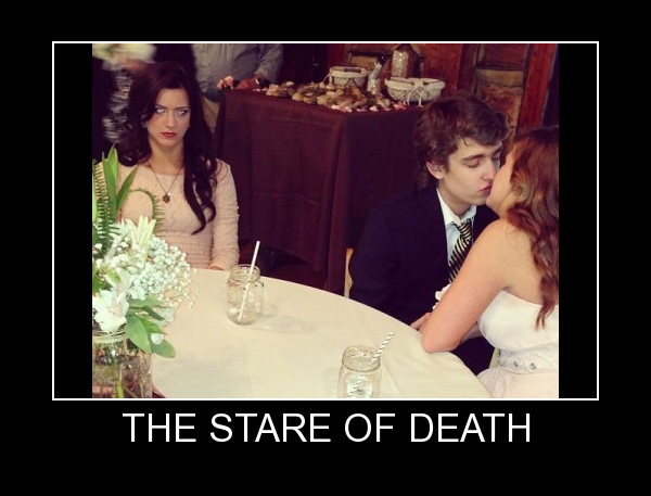 When a girl stares at you