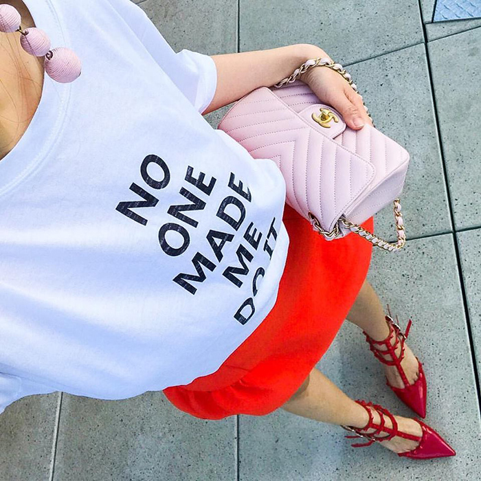 storets tee, must have tees this summer, chanel bag, baublebar earrings, san francisco street style, san francisco fashion blog