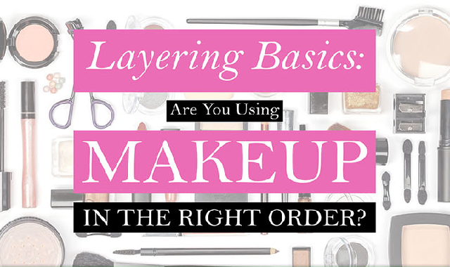 Layering Basics: Are You Using Makeup in the Right Order? #infographic