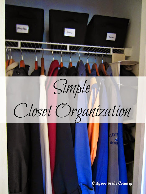 Simple Closet Organization