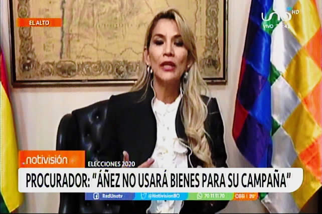 Procurador asegura que la candidata Áñez no usará bienes del Estado como lo hizo Evo Morales