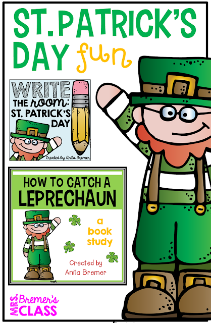 St. Patrick's Day activities for Kindergarten, First Grade, and Second Grade. #stpatricksday #1stgrade #2ndgrade #bookstudies