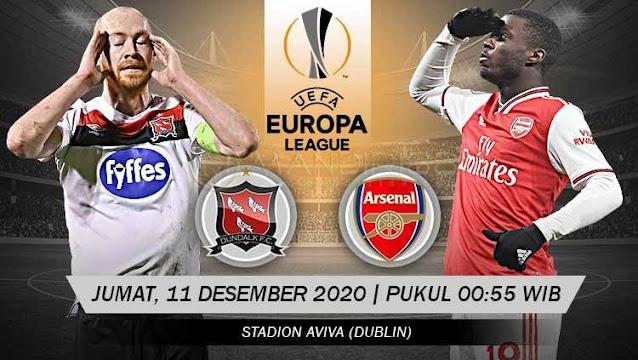 Prediksi Dundalk Vs Arsenal, Jumat 11 Desember 2020 Pukul 00.55 WIB @ SCTV