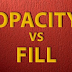 Sự khác biệt giữa Opacity và Fill trong Photoshop