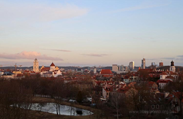 Панорама Вильнюса рано утром