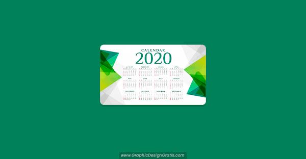 Calendario 2020 geométrico gratis