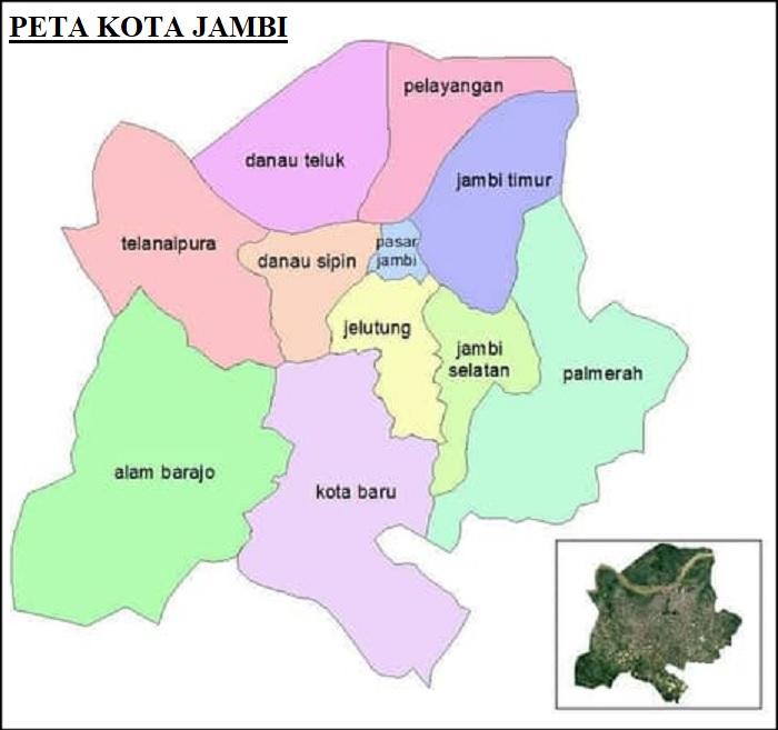 Peta Kota Jambi HD Terbaru