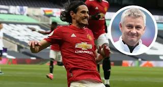 Solskjaer remains hopeful about Cavani extending United stay