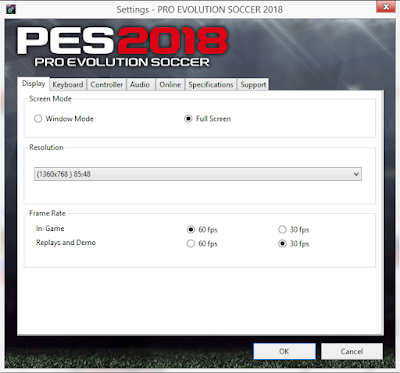 PES 2018 Settings.exe