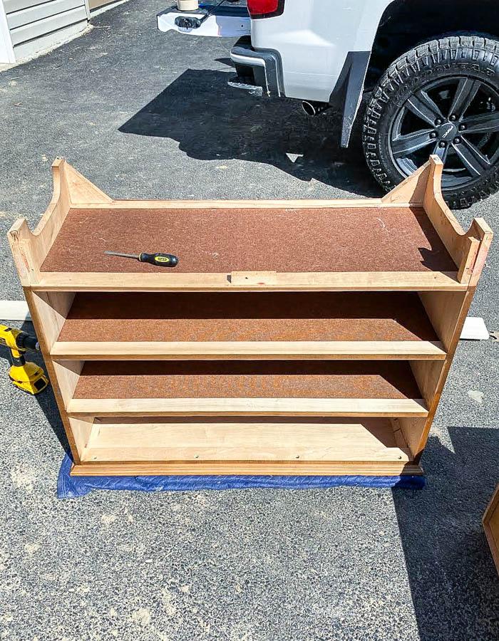 Curvy dresser base removed
