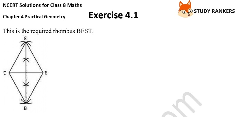 NCERT Solutions for Class 8 Maths Ch 4 Practical Geometry Exercise 4.1 3