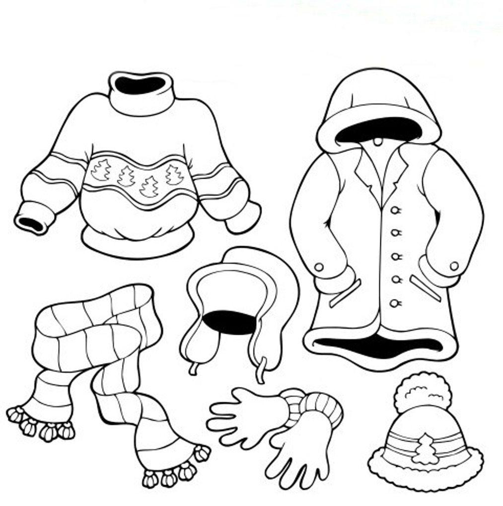 Los dibujos para colorear : Dibujos de ropa para colorear : abrigos ...