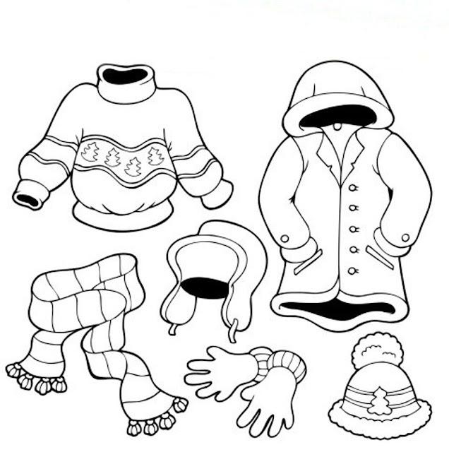 dibujos de ropa de invierno
