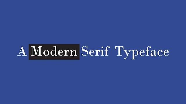modern-serif-font