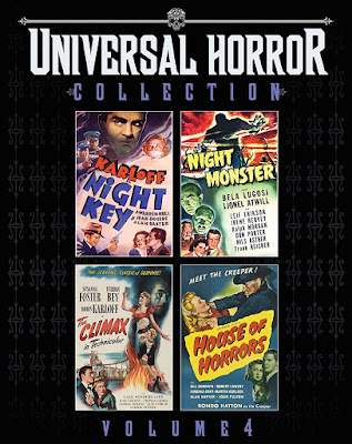Cover art for Scream Factory's UNIVERSAL HORROR COLLECTION: VOL. 4!