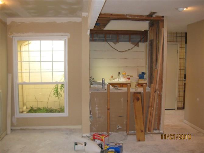 Kitchen Remodel Dallas White Cabinets Home Depot Houston Remodeling 休斯顿张先生家厨房改造 理石台面的安装 地砖 地板工程