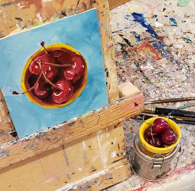 cherries-oil-painting-merrill-weber