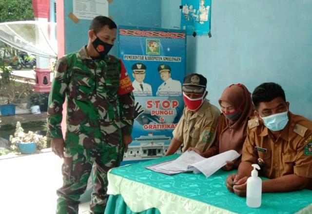 Bersama Denga Staf Kecamatan Diwilayah Binaan Personel Jajaran Kodim 0207/Simalungun Laksanakan Komsos