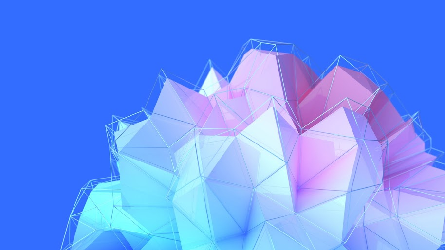 3D, Polygon, Abstract, 4K, #34