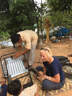 building wheelchairs in Cambodia
