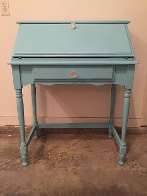 Drew Danielle Design Tiffany Blue Student Desk