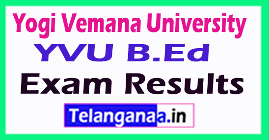 Yogi Vemana University YVU B.Ed Exam Results
