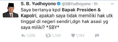 Curhatan SBY Berakhir Ngakak di twitter