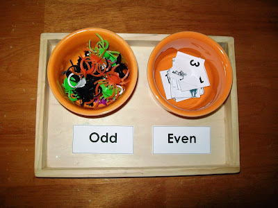 Odd and Even Halloween Number Sort