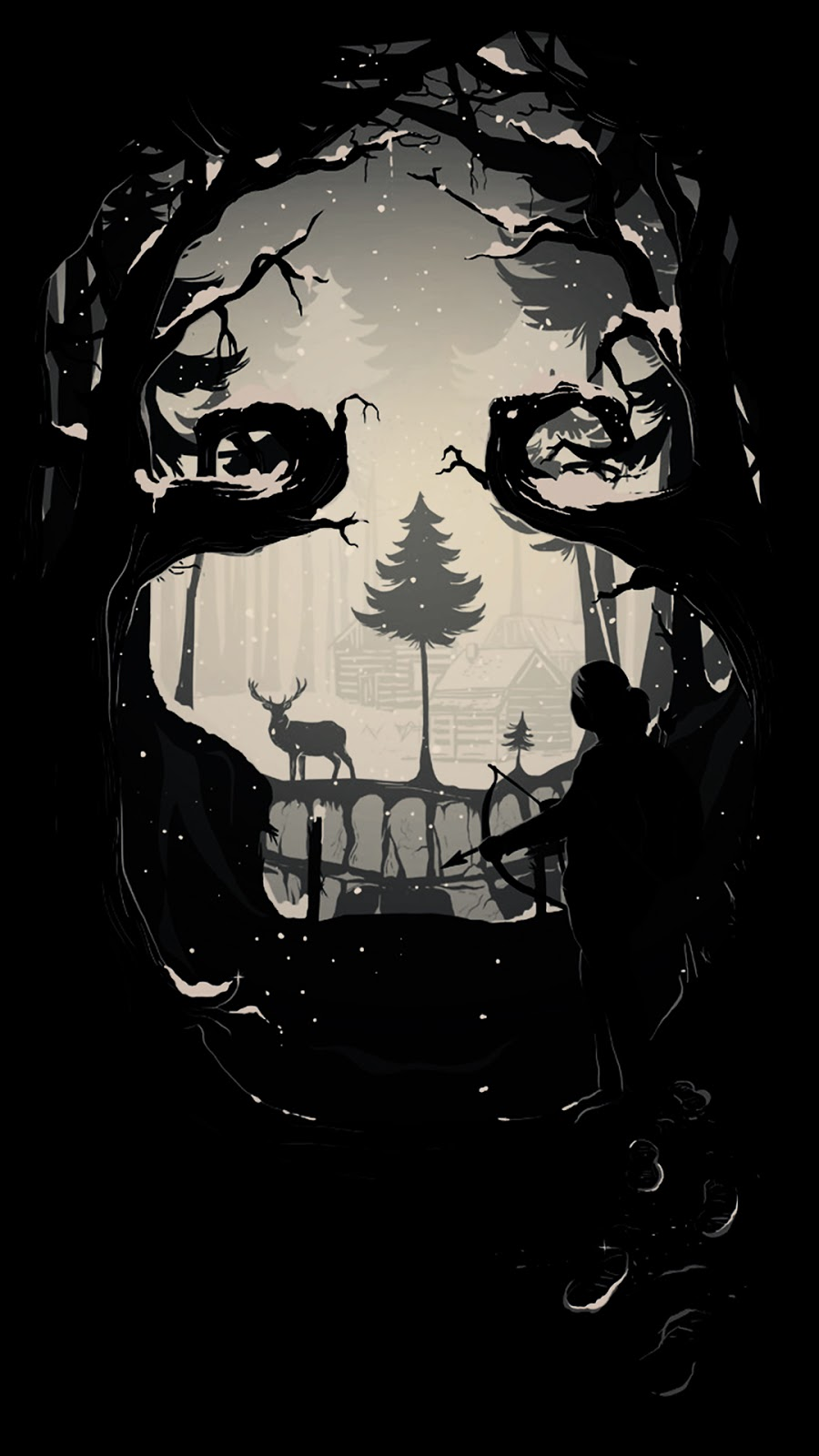 A amoled wallpaper of the game the last of us in 1080 x 1920 pixels