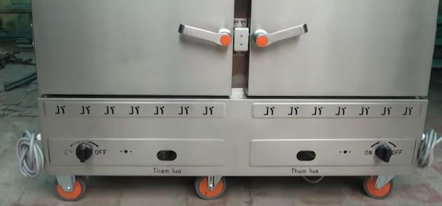 Tủ nấu cơm gas điện 24 khay tại Sài Gòn