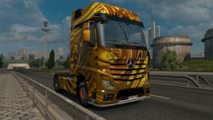 Liquid Gold skin for Mercedes Actros 2014
