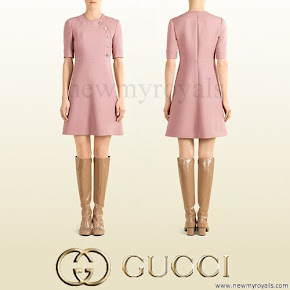 The Countess of Wessex wore Gucci pink Wool Dress