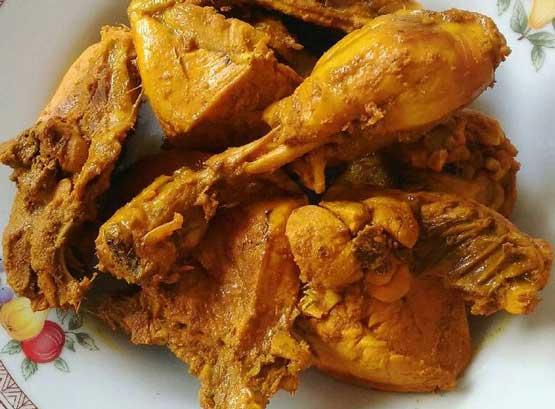 resep ayam bumbu kuning sederhana