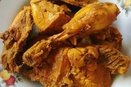 Resep Ayam Goreng Bumbu Kuning Renyah