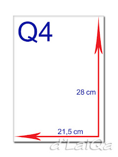 kertas Q4 atau kuarto atau letter
