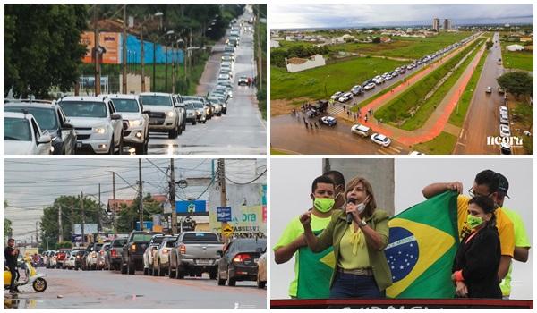 Comerciantes fazem protesto contra decreto do governador da Bahia em Luis Eduardo neste domingo