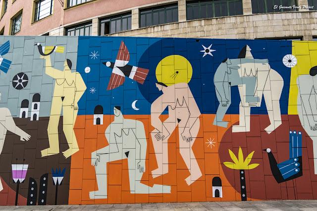 Mural (detalle) Supervivientes Violencia Machista, por Ruth Juan - M. Merced, Bilbao por El Guisante Verde Project