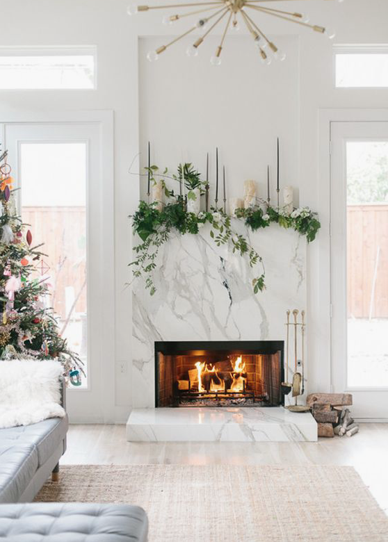 Christmas decor house of hire - Modern christmas mantel ideas ...