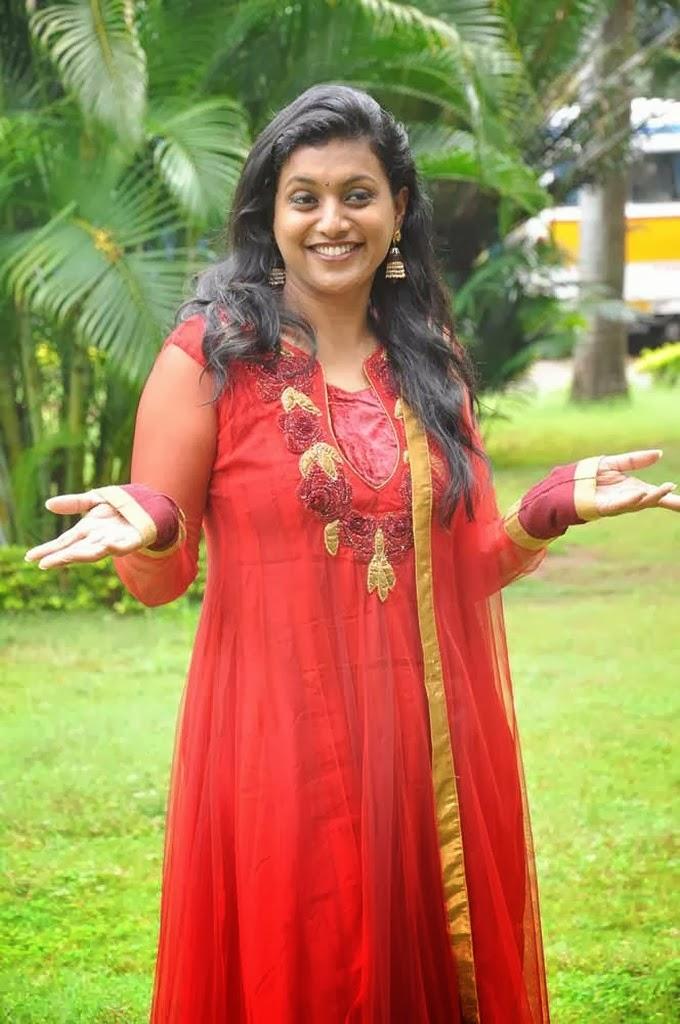 Telugu Web World Roja Aunty In Beautiful Red Chudidhar