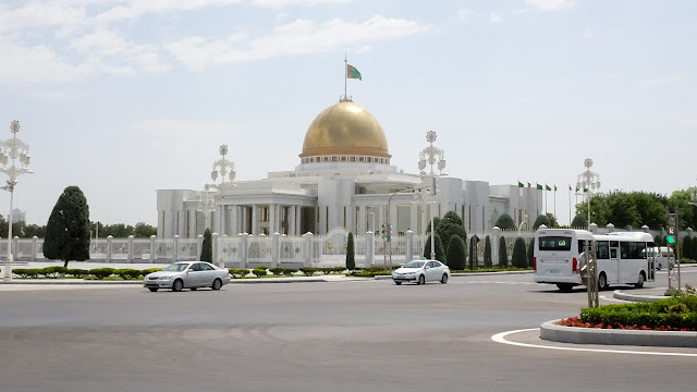 The house of Turkmenistans President. He died in July, according to rumors from Russia. If that happens Serdar Berdymukhamedov, his son, will take power.