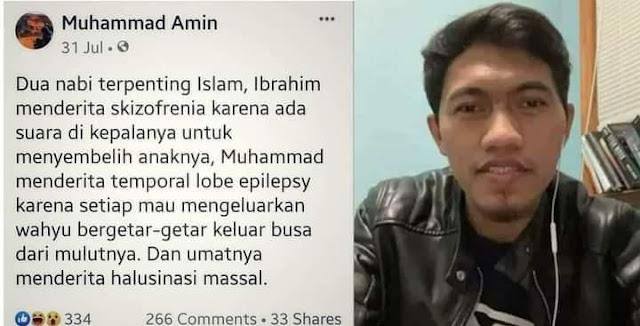 Muhammad Amin Sebut Nabi Muhammad Penderita Epilepsi