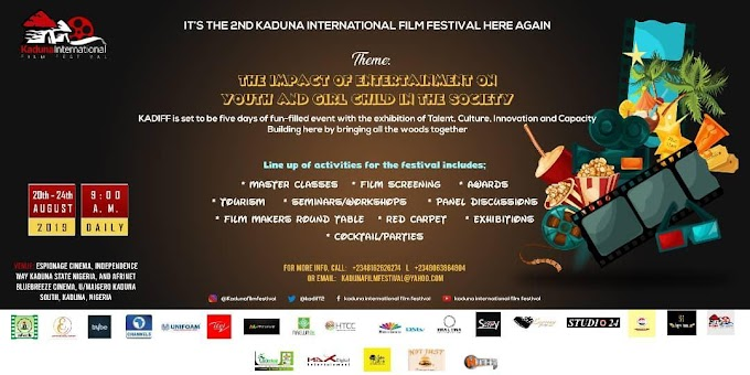 The 2nd Kaduna International Film Festival Is Here Again: See Details (photo)