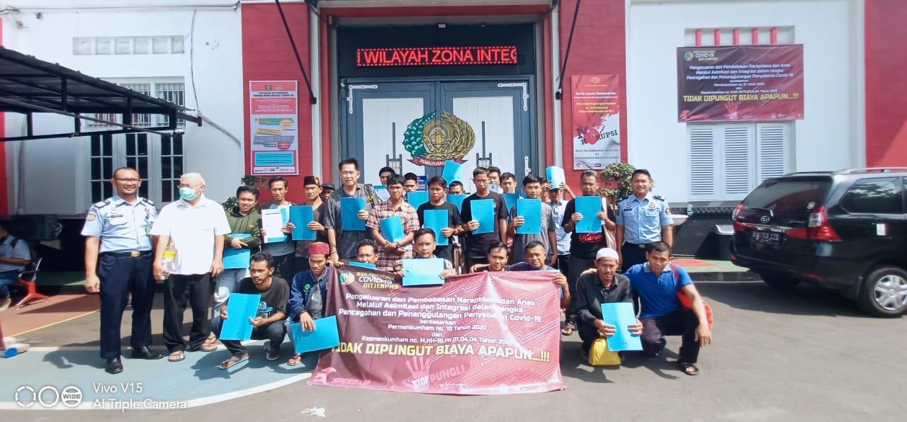 Tangkal Penyebaran Covid-19, Lapas Pemuda Tangerang Pulangkan 269 Warga Binaan
